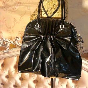 Valentino Bags - Valentino Black Bow Patent Shoulder Bag